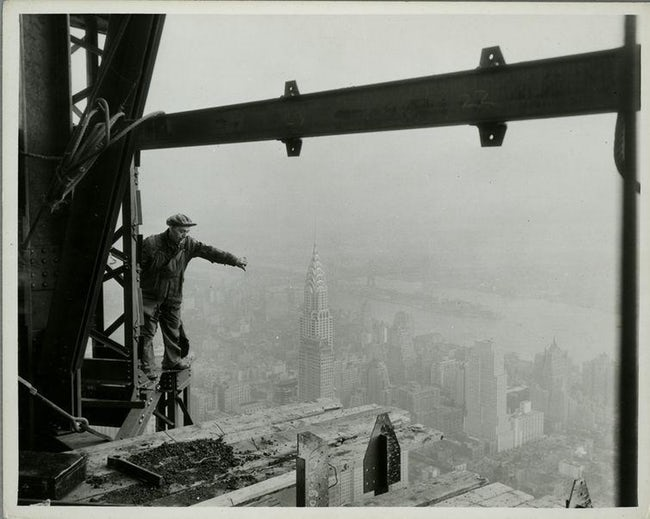 Atop Empire State Building Empire State Building Workers Photo