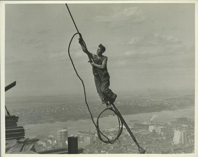 Icarus, High Up On Empire State Famous Empire State Building Workers Photo