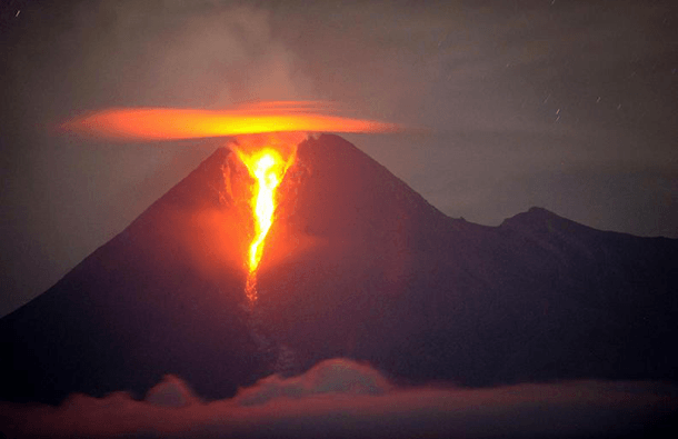 Mount Merapi Volcano – Indonesia (2010) steel wind strike