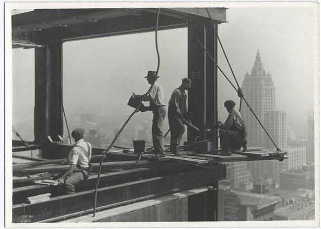 Riveters Attaching A Beam Famous Empire State Building Workers Photo