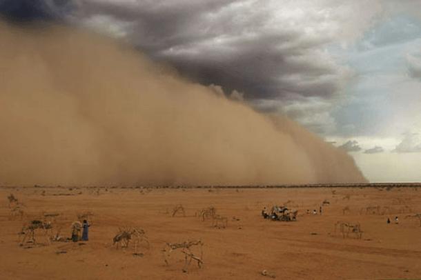 Sandstorm Over A Refugee Camp – Chad (2009)