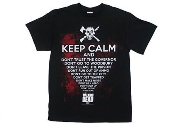 The Walking Dead Keep Calm Mens T-Shirt