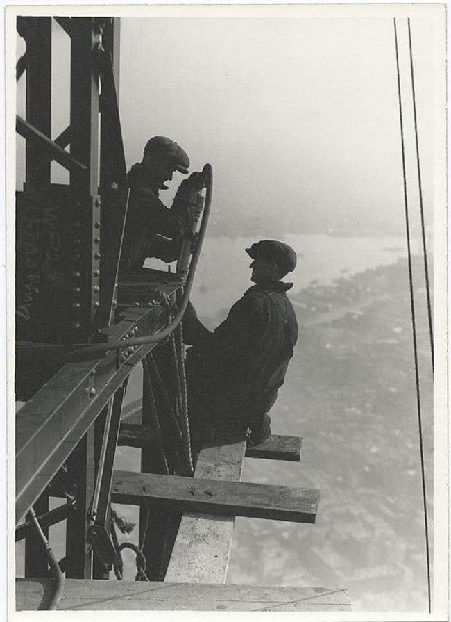 Two Workers Riveting A Corner Beam Empire State Building Workers Photo