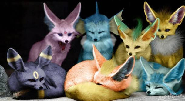 Umbreon, Flareon, Glaceon, Espeon, Vaporeon, Leafeon, and Jolteon