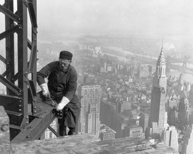 Worker Attaching A Bolt Onto A Beam Empire State Building Workers Photo