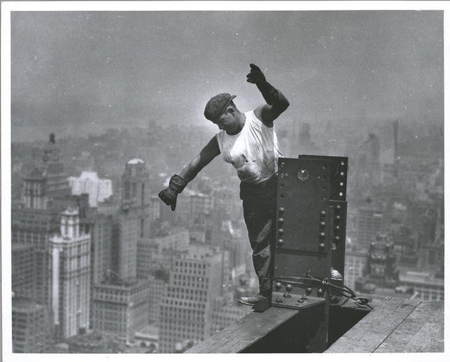 Worker On Empire State Building, Signaling The Hookman
