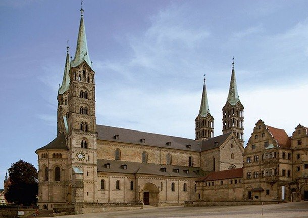 Bamberg Cathedral. Bamberg, Germany. 13th century Romanesque Architecture Examples