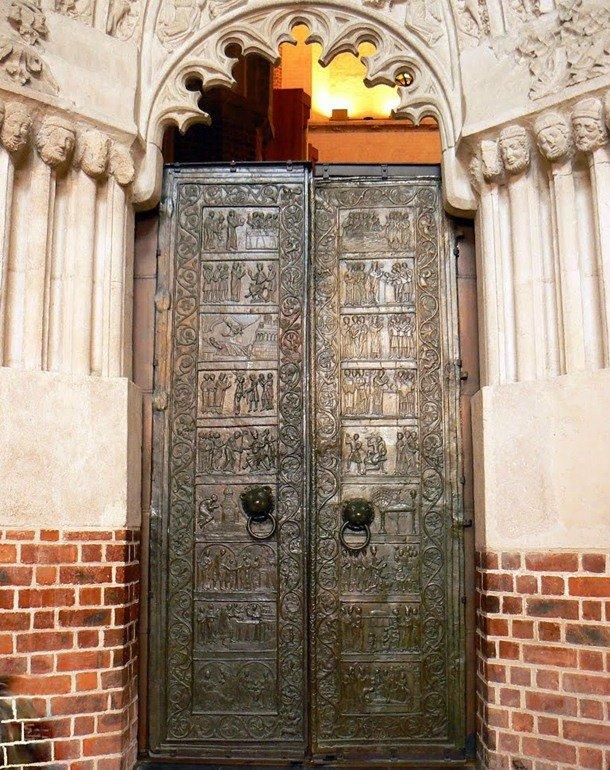 Gniezno Doors. Gniezno, Poland. 12th century Romanesque Architecture Examples