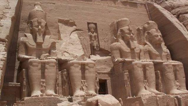 Abu Simbel Temple. Nubia, Southern Egypt. 1244 B.C.