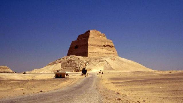 Pyramid of Meidum. Meidum, Egypt. c. 2613 to 2498 B.C.