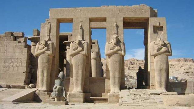 Temple of Ramesseum. Theban Necropolis, Upper Egypt. 1304 to 1207 B.C.