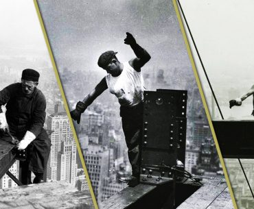 Famous Empire State Building Workers Photo