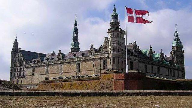 Danish king Frederik II. Kronborg Castle. Helsingor, Denmark. 1574-1585
