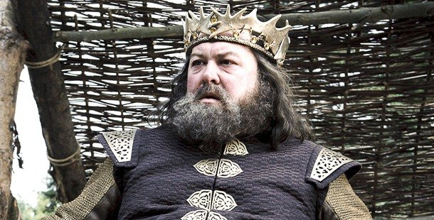 Robert Baratheon played a funny role in the popular movie The Full Monty.