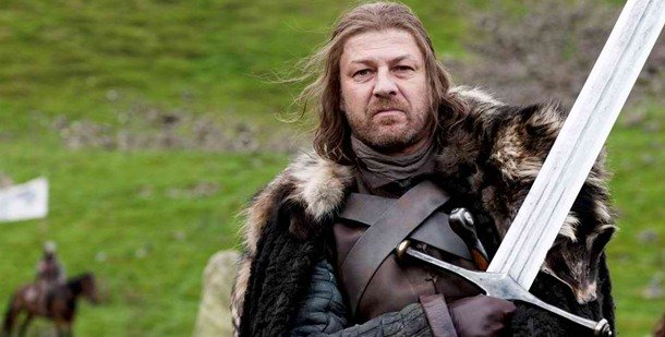 "Sean Bean bears a ""100% Blade"" tattoo on his left shoulder. game of thrones facts and theories"
