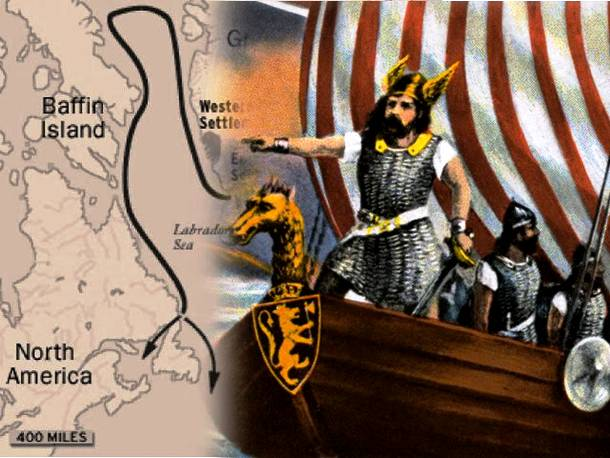 Discovery of Newfoundland, Canada (Leif Erikson) famous explorers