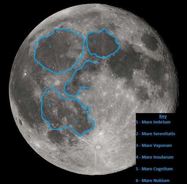 Moon's Face Strangest Things in Space