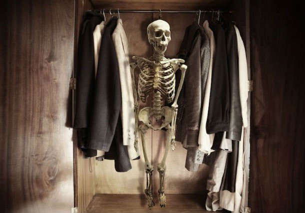 Skeleton in the closet idioms dictionary