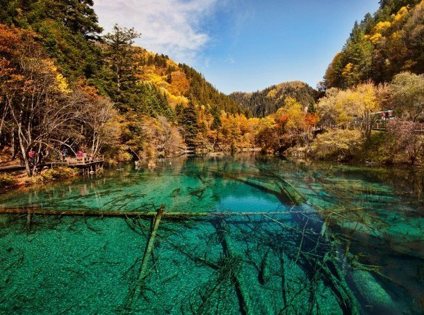 Jiuzhaigou Valley, China secret places on earth impossible to visit