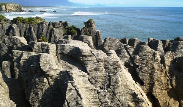 Pancake Rocks, New Zealand secret places in the world to visit